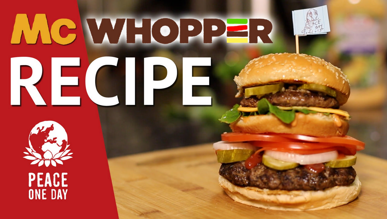 """""""McWhopper"""" Burger King In August 2015, Burger King, in an open letter in traditional and social media, invited McDonald's to collaborate in the creation of a 'McWhopper' to celebrate Peace Day. Though McDonald's demured, this kicked off a media storm, generating $144m. free coverage, and, most interestingly, per McKinsey & Co – a 40% increase in UN Peace Day awareness."""