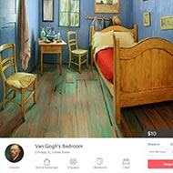 """<strong>&quot;Van Gogh BnB&quot;</strong><br /><strong>Art Institute of Chicago - Leo Burnett Chicago</strong> <br />Instead of just looking at a painting, people could book a night inside one. Craftsmen recreated Van Gogh's 1888 'Bedroom In Arles' and it was posted on AirBnB (purportedly by the artist – """"Just to keep myself in paint""""). Van Gogh Bedrooms was the Art Institute's highest-attended exhibit in 15 years. The room cost $31K to build and generated $6m+ in earned media."""